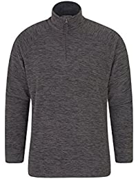 Mountain Warehouse Snowdon Mens Micro Fleece - Warm, Breathable Winter Top, Quick Drying, Zip Collar Fleece Sweater, Soft & Smooth Pullover - For Travelling