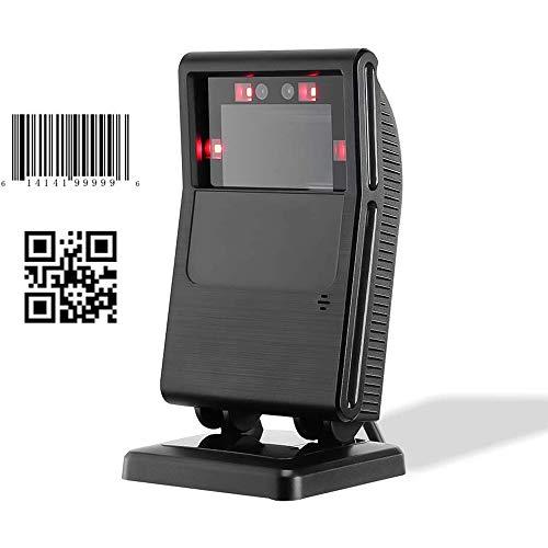 Barcodescanner MUNBYN Barcode Scanner Barcodeleser Barcodelesegerät Omnidirektionaler QR 1D / 2D CCD Automatischer Sensor Justierbarer Drehbar Kopfwinkel USB Stationär Plug & Play Schnittsteller
