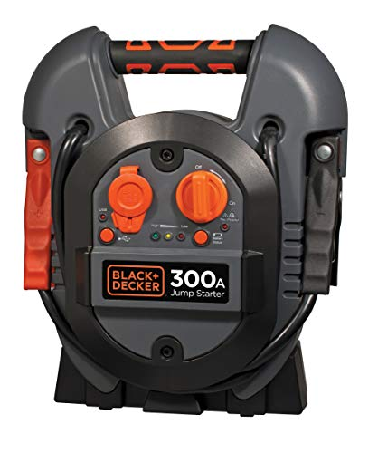 Black+Decker J312BE Starthilfe 300A, 12V, 2A USB