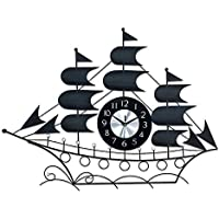 Wallario Design Wanduhr Acrylglas 30 x 60 cm Sonnenboot Karibik boot schiff meer