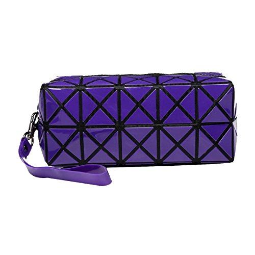 Geometrisch Rhombus Make-up Taschen Tragbare Lässig Kosmetiktaschen Waschbeutel Purple