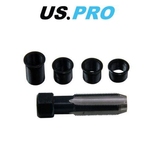 AB Tools-US Pro Appuyez sur Rethreading Bougie Kit de Jeu de r/éparation de Filetage M14 x 1,25 avec Inserts 4