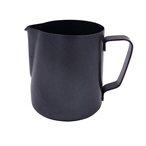 Kaffee-tool (LIKECAR Kaffee Espresso-Tools Antihaft -Beschichtung Milchkrug Metall Edelstahl-Kaffee Aufschäumen Krug Milchkännchen 900ML Innen schwarz)