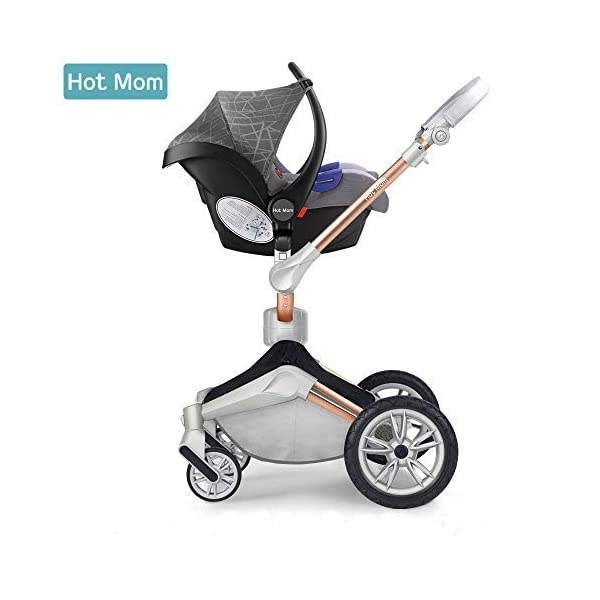 Group 0 Car Seat for Hot Mom pram and Pushchair,Grey
