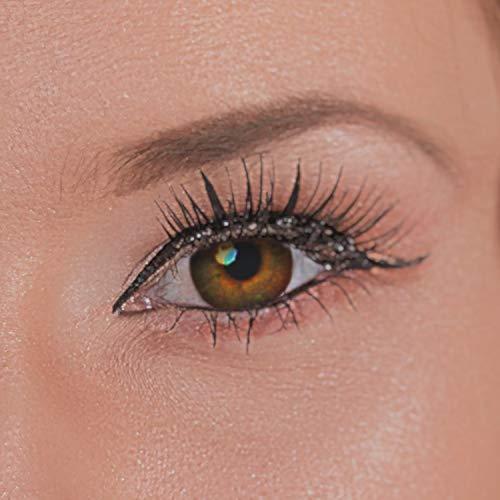 Eye Effect farbige Kontaktlinsen in vielen Farben für schöne natürlich Augen + gratis Kontaktlinsenbehälter (Braun)