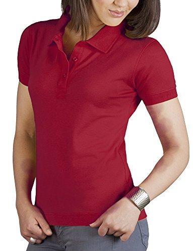 Poloshirt Klassisch Damen, L, Kirschrot (Shirt L/s Klassische Womens)