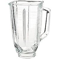 Oster 5-cup cuadrado superior de vidrio jarra de batidora, cuadrado, claro