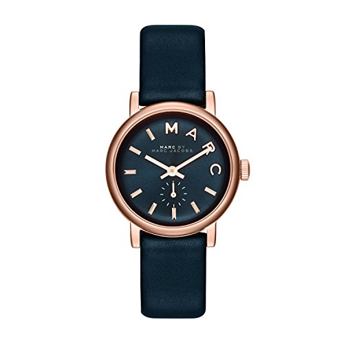 Marc Jacobs Women's Watch Analogue Quartz Leather Blue Stainless Steel Case MBM1331