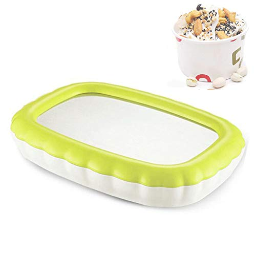 ZLKB EIS Teppanyaki Platte,Eiscreme Rollen Machine,Ice Cream Maker Easy Make Ice Cream Roll,Yellow