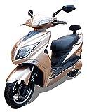 Elektroroller E-Scooter Elektro Roller E-Roller mit Straßenzulassung 45 km/h 60 Kilometer Reichweite, Gold