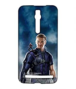 Team Blue Hawkeye Phone Cover for Asus Zenfone 2 by Block Print Company