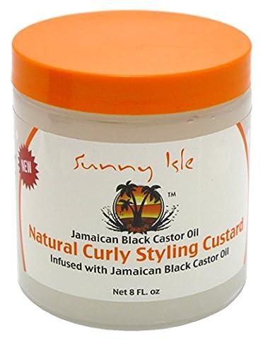 Sunny Isle Jamaican Black Castor Oil Natural Curly Styling Custard 8 oz