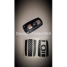 Lámina de carbono / decoración negro tecla BMW 1, 3, 5, X5, X, E60, E70, E90, E91, E92, y más