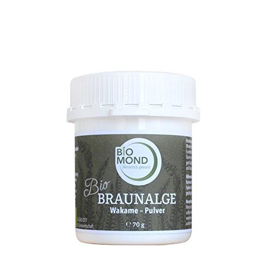 BIO Braunalge Wakame Kelp BIOMOND Pulver 70 g Apothekerqualität natürliche Jodquelle