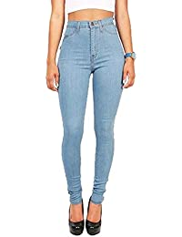 Juleya Jeans Femme Straight Denim Pantalon Taille Haute Stretch Denim  Pantalon Sexy Crayon Pantalons Casual Jeans 804707bd1b4d