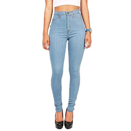 Juleya Jeans Mujer Pantalones elásticos de Cintura Alta Straight Denim Pants Sexy Pantalones lápiz Pantalones de Mezclilla Casual