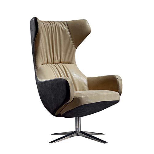 Bjni Leder Kamin Lounge Sessel Schlafzimmer Stuhl Wohnzimmer Schlafzimmer Wintergartenmöbel Leder Besucher Business Empfangszimmer Sofa - Schlafzimmer Leder Fußteil