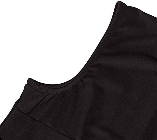 U-shot Abito da Donna Senza Maniche Slim Elegante Vestito da Sera Nero