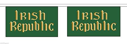 Irland Irish Republic Horizontal Polyester Flagge Wimpelkette 9m (30') Wimpelkette mit 30Flaggen