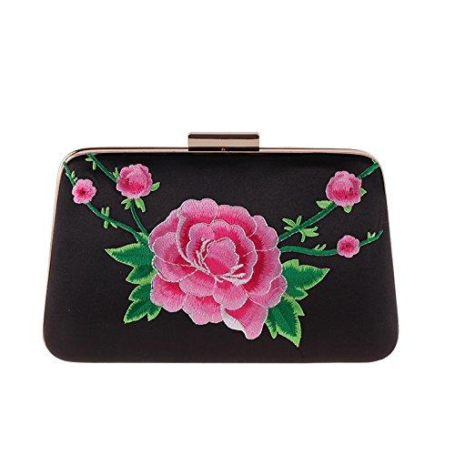 Hand Quadratische Aus QIUMEI Dinner Tasche Kleine Tasche HandtascheS Tasche Frauen black Polyester Tasche OME qFXa4w8x