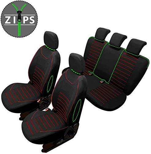 rmg-distribuzione Coprisedili SPECIFICI per Duster Versione (2018 - in Poi) compatibili con sedili con airbag, bracciolo Laterale, sedili Posteriori sdoppiabili R60S0146