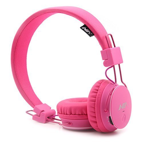 Fm-radio, Sony Wiederaufladbare Am (GranVela® X2 Over-Ear-Bluetooth-Kopfhörer, faltbar 4 in 1 Stereo Kinder Kopfhörer-drahtlose freihändige Kopfhörer mit Mikrofon und MicroSD Card Player, Radio, AUX für iPhone, Samsung und mehr (Pink))