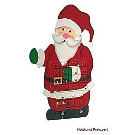 """'SSITG Calendario dell' Avvento """"Babbo Natale in legno per bambini Natale Calendar"""