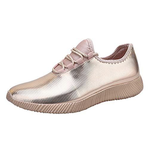 iHENGH ❤Scarpe da Corsa alla Moda per Donna Scarpa Donna Casual Running Semplice Shoes Women Summer(Oro,36)