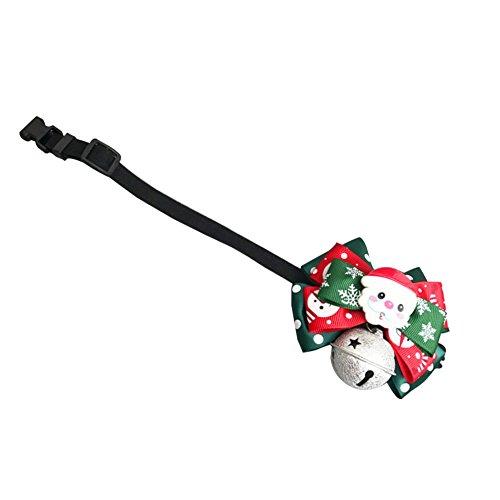 Bowknot Weihnachtshundehalsband Krawatte Einstellbar für Small Medium Big Dog Welpen-Katze-Partei-M ()