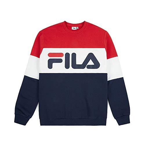 Fila Men Straight Blocked Crew Rosso Bianco Blu 68...