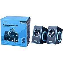 MTK K3353 Enceintes PC 2.0 - 2*3W (RMS) pour Mac/PC - noir/bleu