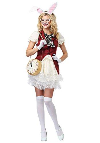 Women's White Rabbit Fancy dress costume -