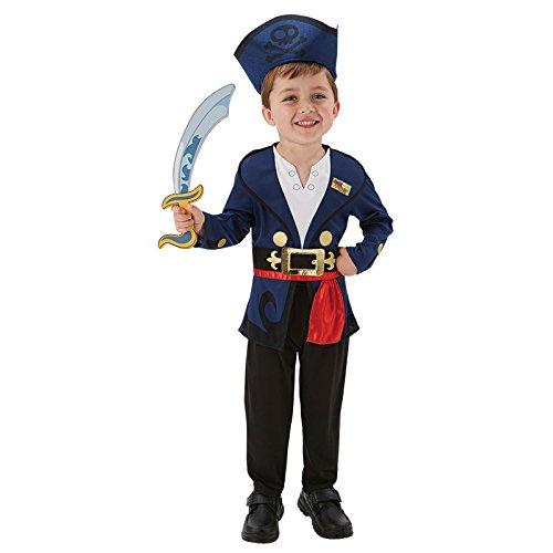 Deluxe Jake Kostüm Kinder - Jake der Pirat Deluxe Gr. S (3-4 Jahre) Fasching Karneval Kostüm Kinderkostüm Mottoparty Jacke