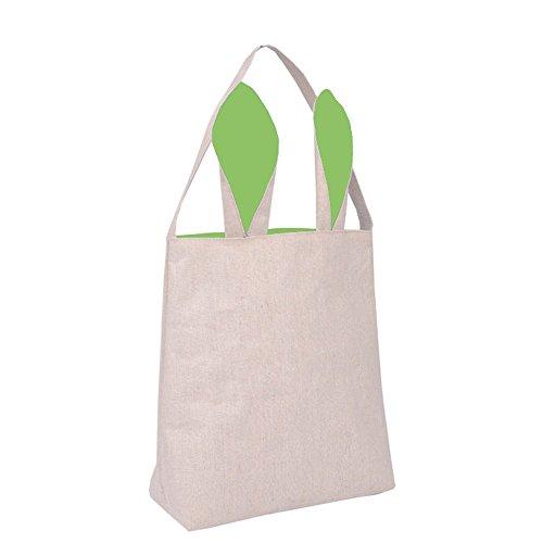Auifor Leinengeschenk aus Baumwolle Osterhasenohren Tasche Tote Handtasche Wristlets Clutches Bag