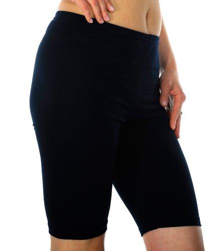 Radfahren Gym Laufen Yoga Hose Leggins, knielang, Länge: 95% Baumwolle, Intensive Farben, Größen: S-XXXL Mehrfarbig - Marineblau
