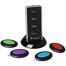 Magicfly® Localisateur d'objets (clés, portefeuilles...) avec LED Porte Clés Siffleur Key Finder Anti-perte--1 emetteur + 4 récepteurs