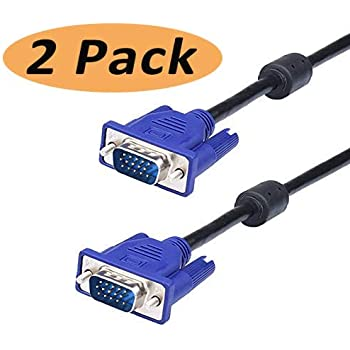 Monitor Projector Computer TarLink/® VGA Cable VGA HD15 Pin D-Sub Male to Male Cable Lead Cord for PC Laptop 3m