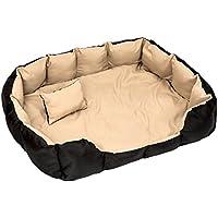 TecTake® XXL Hundebett Hundekissen Hundesofa Schlafbett schwarz/beige