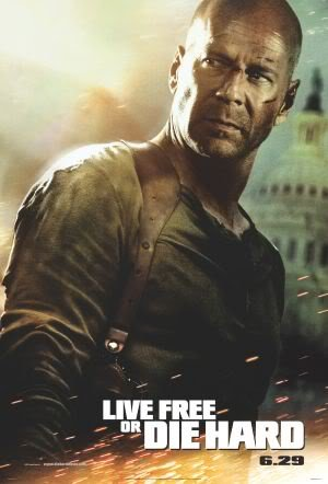 DIE Hard 4 - Bruce Willis - Movie Wall Art Poster Print - 43cm x 61cm / 17 Inches x 24 Inches A2 LIVE Free OR DIE Hard (- Dvd-live Free, Die Hard)