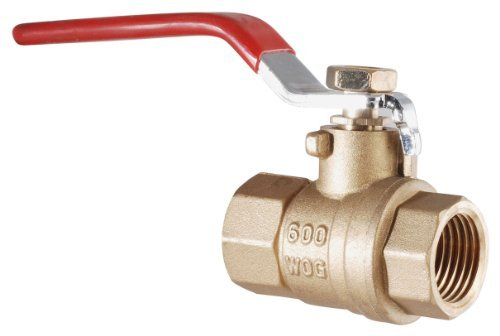 LDR 022 2235 1-Inch IPS Full Port FIP Ball Valve Lead Free Brass by LDR Industries -