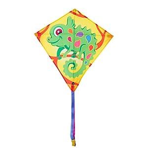 Invento 100123-Eddy Camille Chameleon, niños Dragón einleiner, a partir de 5años, 68x 68cm y 2m Dragón Cola Ripstop de poliéster 2-5Beaufort