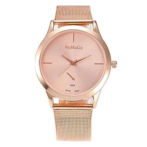Femme montre, Fuibo 2017nouveaux Mode femelle horloges montre à quartz de luxe Femme en maille Sangle montre C