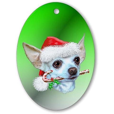 CafePress–Chihuahua Natale ovale, vacanza decorazione natalizia