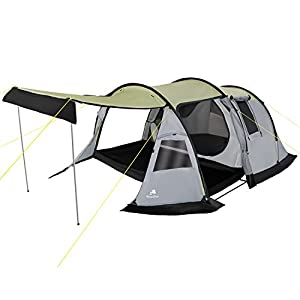 campfeuer - tunnel-tent, 3-person camping tent, grey, 3,000mm hydrostatic head