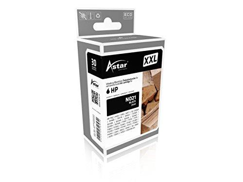 Preisvergleich Produktbild Astar AS15351 Tintenpatrone kompatibel zu HP NO21 C9351A, XXL 300 prozent Mehrleistung, 740 Seiten, schwarz
