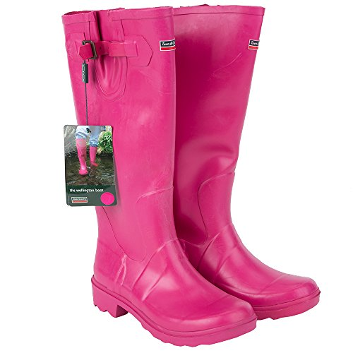 Town & Country Size 3/ EU 36 Premium Wellington Boots - Raspberry