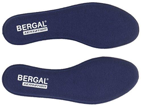 BERGAL 3 Paar Sensation Einlegesohle Sohle Visko Schaum Gr. 36-46 Memory Support, Schuhgröße:EUR 44
