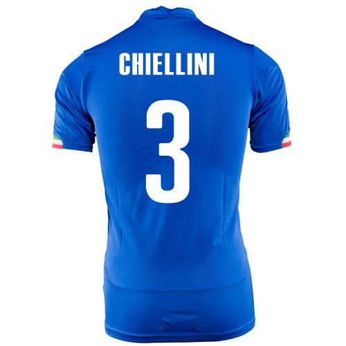 Puma Chiellini # 3 Italien Home Trikot Weltmeisterschaft 2014 (Jugend) (YXL) -