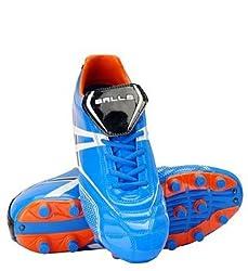Balls Dyno Mens Soccer Football Shoes Blue-Orange (Size 6)