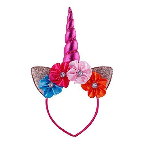 SZTARA-Women-Unicorn-Headband-Halloween-Party-Hairhoop-Ears-Flower-Hairband